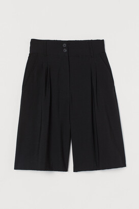 H&M Wide-leg Bermuda Shorts