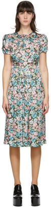 Marc Jacobs Green Silk Floral The 40s Dress