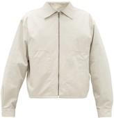 Lemaire Water-repellent Cotton-blend Jacket - Mens - Light Grey