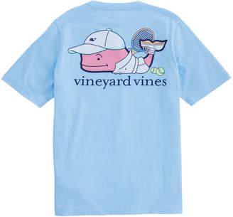 Vineyard Vines Boys Tennis Pro Whale Pocket T-Shirt