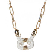 Alexis Bittar Crumpled Segment Soft Link Necklace