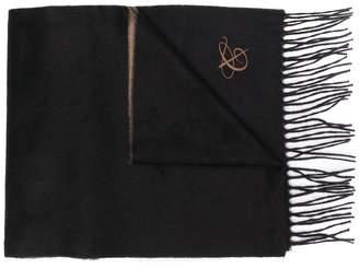 Canali logo tassel scarf