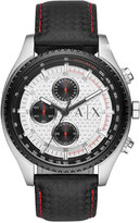 Armani Exchange A|X Men's Chronograph Black Leather Strap Watch 45mm AX1611