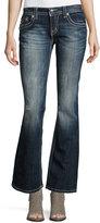 Miss Me Faded Boot-Cut Fleur de Lis Jeans, Dark Blue