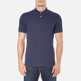 Polo Ralph Lauren Men's Short Sleeve Custom Fit Polo Shirt Navy Heather