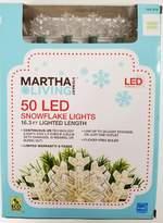 50 Led Warm White Snowflake String Lights Martha Stewart Living Christmas