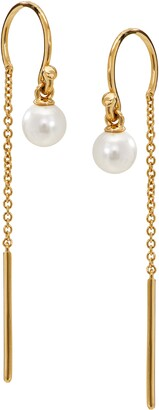 AJOA Imitation Pearl Drop Threader Earrings