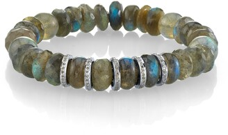 Sheryl Lowe Labradorite Rondelle Bracelet