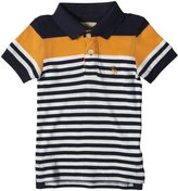 Rose Pistol Balboa Striped Polo (Kid) - Blue/White/Rust-8