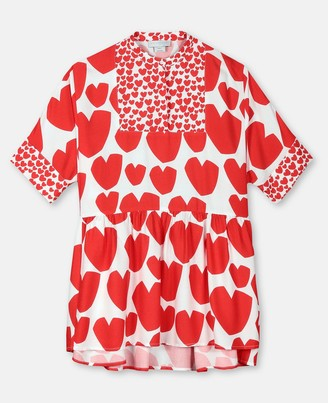 Stella Mccartney Kids Hearts Viscose Kimono Dress, Women's