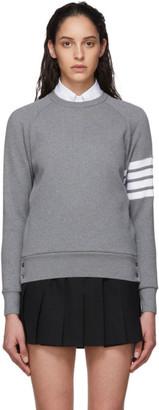 Thom Browne Grey Waffle 4-Bar Classic Sweatshirt