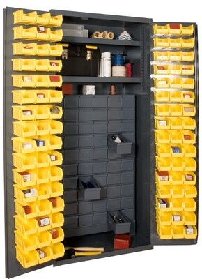 """Durham Manufacturing 72"""" H x 36"""" W x 24"""" D Small Parts Storage and Security Cabinet Durham Manufacturing"""