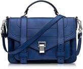 Proenza Schouler PS1+ Medium Lapis Grainy Leather Flap Handbag