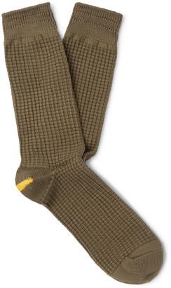 Anonymous Ism Waffle-Knit Socks