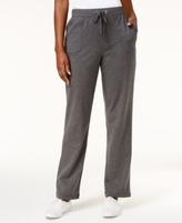 Karen Scott Petite Heathered Drawstring Pants, Created for Macy's