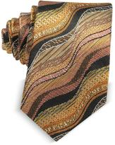 Missoni Waves Woven Twill Silk Men's Narrow Tie