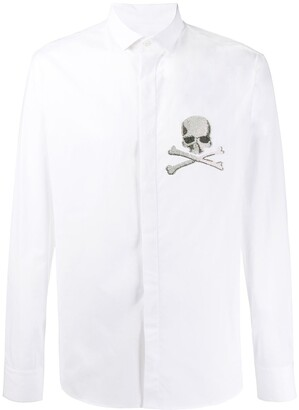 Philipp Plein platinum cut skull shirt
