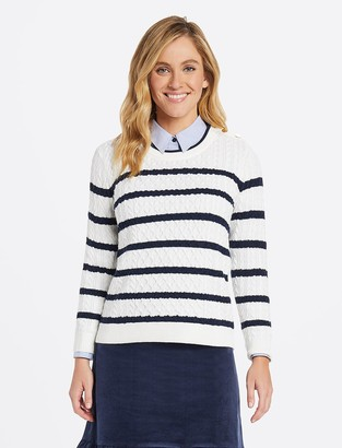 Draper James Sailor Cable Sweater