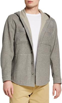 Vince Men's Hooded Cashmere Shirt Jacket