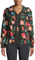 Kate Spade Blossom Zip-Front Flounce Anorak Jacket