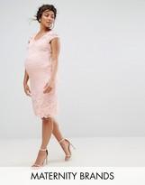 Mama Licious Mama.licious Mamalicious Lace Dress