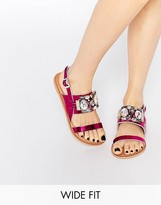Asos FLASH Wide Fit Embellished Flat Sandals