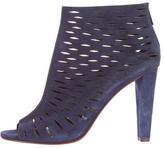 Diane von Furstenberg Cutout Peep-Toe Ankle Boots