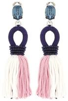 Oscar de la Renta Embellished tassel clip-on earrings