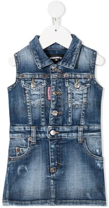 DSQUARED2 Sleeveless Denim Dress