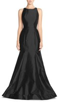 Women's Monique Lhuillier Bridesmaids Back Cutout Taffeta Mermaid Gown