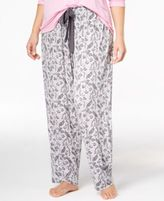 Alfani Plus Size Printed Knit Pajama Pants, Only at Macy's