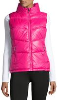 Marc NY Performance Puffy-Collar Chevron-Seamed Vest