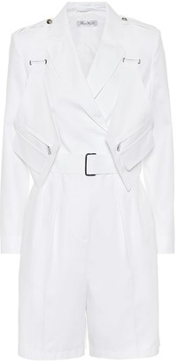 Max Mara Hello cotton-twill playsuit
