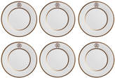 Roberto Cavalli Silk Gold Soup Plates - Set of 6