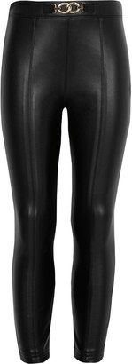 River Island Girls Black faux leather trousers