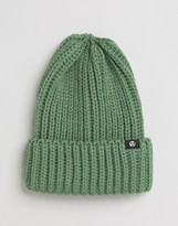 Ps By Paul Smith Wool Ribbed Beanie In Green