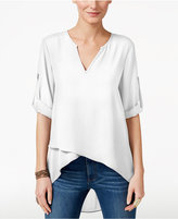 Karen Kane Asymmetrical Tiered-Hem Top