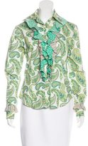 Etro Ruffled Button-Up Top