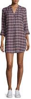 Soft Joie Daysa Plaid Shirtdress, Peacoat/Rose