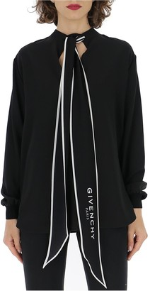 Givenchy Scarf Collar Blouse