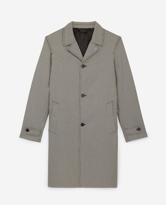 The Kooples Long printed trench coat in cotton w/tartan