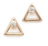 Shashi Triangle Stud Earrings