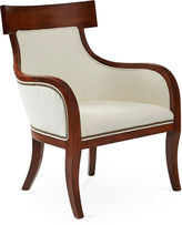 Massoud Furniture Sylvia Chair, White Linen