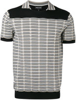 Emporio Armani knitted detail contrast T-shirt - men - Polyamide/Viscose - 50