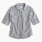 J.Crew Striped short-sleeve button-up shirt