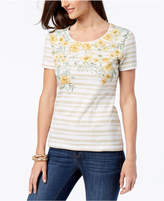 Karen Scott Printed Embellished T-Shirt, Created for Macy's