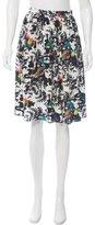 Nicole Miller Silk Abstract Print Skirt
