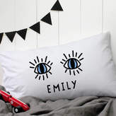 A Piece Of Personalised 'Eyes' Pillow Case