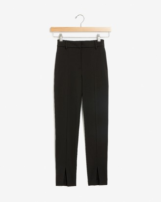 Express High Waisted Front Slit Skinny Pant