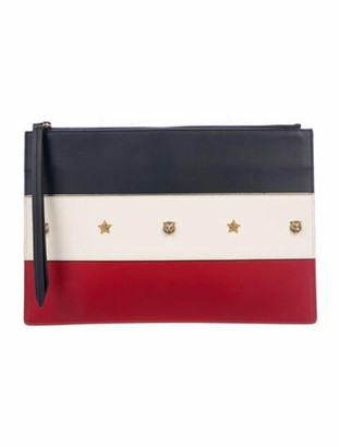 Gucci Studded Animalier Zip Pouch Navy